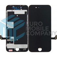 iPhone 8/ iPhone SE (2020) Display+Digitizer + Metal Plate Complete, OEM Replacement Glass - Black