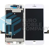 iPhone 8/ iPhone SE (2020) LCD+Digitizer + Metal Plate Complete, OEM Replacement Glass - White