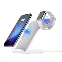 2 in 1 Fast Wireless Charging Station For iPhone & iWatch