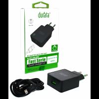 Durata AC Adapter 2/1 USB Slot 3.0A Micro-USB Black (DR-40M)