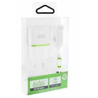 Durata 3/1 Car/Wall Micro Charger For Android DR-A3001