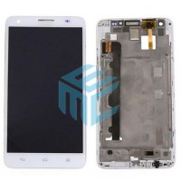 Huawei Ascend G750 Display + Digitizer With Front Frame - White