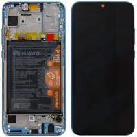 Huawei Honor 10 Lite 02352HUV OEM Service Part Screen Incl. Battery - Sapphire Blue