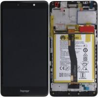 Huawei Honor 6X (BLN-L21) OEM Service Part Screen Incl. Battery (02351BNB) - Black