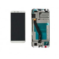 Huawei Honor 7A (AUM-AL00) LCD + Digitizer With Front Frame - White