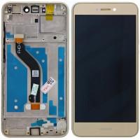Huawei Honor 8 Lite LCD + Touchscreen + Frame - Gold