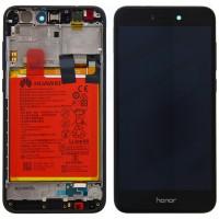 Huawei Honor 8 Lite OEM Service Part Screen Incl. Battery (02351DWH) - Black