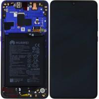 Huawei Mate 20 02352FRA (HMA-L09/ HMA-L29) OEM Service Part Screen Incl. Battery - Twilight