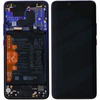 Huawei Mate 20 Pro 02352GGC (LYA-L09/ LYA-L29) OEM Service Part Screen Incl. Battery - Twilight/ Purple