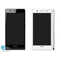 Huawei Ascend P6  LCD Frame Completely - White