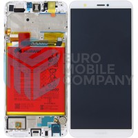Huawei P Smart (FIG-L31) OEM Service Part Screen Incl.Battery (02351SVE) - White