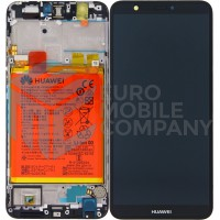 Huawei P Smart (FIG-L31) OEM Service Part Screen Incl.Battery (02351SVJ) - Black