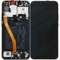 Huawei P Smart Plus (INE-LX1) OEM Service Part Screen Incl. Battery (02352BUE) - Black