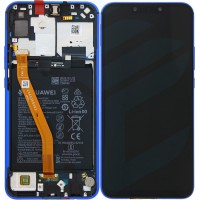Huawei P Smart Plus (INE-LX1)  OEM Service Part Screen Incl. Battery (02352BUH) - Iris Purple