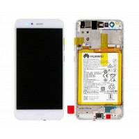 Huawei P10 Lite (WAS-L21) OEM Service Part Screen Inc Battery 3000mAh (02351FSC) - White