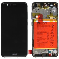 Huawei P10 Lite (WAS-L21) OEM Service Part Screen Incl. Battery 3000mAh - Black