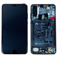 Huawei P20 Pro 02351WQK (CLT-L09/ CLT-L29) OEM Service Part Screen Incl. Battery - Black