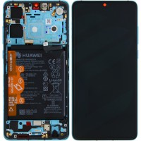 Huawei P30 OEM Service Part Screen Incl. Battery (02352NLN) - Aurora Blue