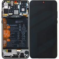 Huawei P30 Lite OEM Service Part Screen Incl. Battery (02352RPW) - Black