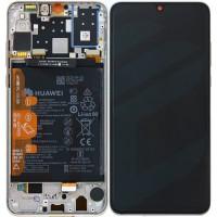 Huawei P30 Lite OEM Service Part Screen Incl. Battery (02352RQC) - Pearl White