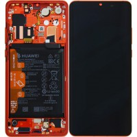 Huawei P30 Pro OEM Service Part Screen Incl. Battery (02352PGK) - Amber Sunrise