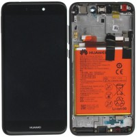 Huawei P8 Lite 2017 OEM Service Part Screen Incl. Battery (02351VBT) - Black