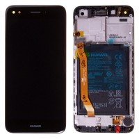 Huawei Mate Y6 Pro/P9 Lite Mini OEM Service Part Screen Incl. Battery (02351TVA) - Black