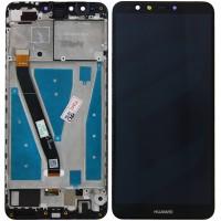 Huawei Y9-2018 Display + Digitizer + Frame - Black