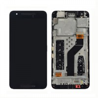 Huawei Nexus 6P Display + Digitizer incl Frame - Black