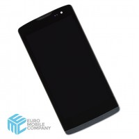 LG Leon H340 LCD+Touchscreen+Frame - Black