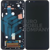 LG Q8 Display + Touchscreen + Frame - Black