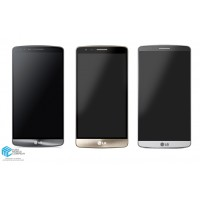 LG G3 D855 LCD + Touch incl. Frame - Gold