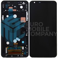 LG Q7 Thinq Display + Digitizer + Frame - Black