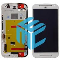 Motorola Moto G2 Display+Digitizer +  Frame -  White
