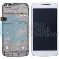 Motorola Moto G4 Play Display + Touchscreen + Frame - White