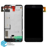 Nokia Lumia 630/635 Display + Digitizer incl. Frame. - Black