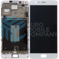 OnePlus 3 / 3T Display + Digitizer + Frame OEM - White