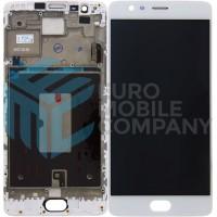 OnePlus 3 / 3T Display + Touchscreen + Frame OEM - White