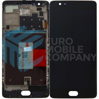 Oneplus 3 / 3T Display + Digitizer + Frame OEM - Black