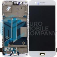 OnePlus 5 Display + Digitizer + Frame - White