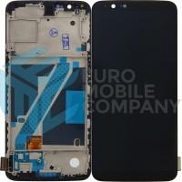 OnePlus 5T Display + Digitizer + Frame OEM - Black