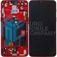 OnePlus 6 Display + Touchscreen + Frame - Amber Red