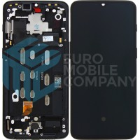 OnePlus 6T Complete Display + Frame OEM - Mirror Black