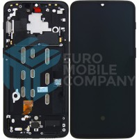 Oneplus 6T Complete Display + Frame OEM - Midnight Black