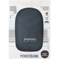 Silver Crest Power Bank 6000 mAh - Black