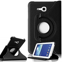 Samsung Tab T110/T111/T113/T116 Rotating Case - Black