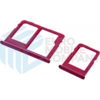 Samsung Galaxy J4 Plus (SM-J415)/ Galaxy J6 Plus (SM-J610) Sim + MicroSD Holder - Red