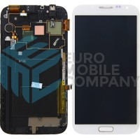 Samsung Galaxy Note 2 (GT-N7100) OEM Display, Replacement Glass - White