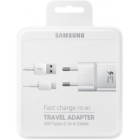 Samsung Fast Charger 2.0mAh (15W) inc. USB Data Cable Type-C - White (TA20EWECGWW)