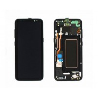 Samsung Galaxy S8 (SM-G950F) Display incl.Digitizer with frame - Midnight Black (BLACK)